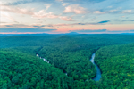 Sunset over Bearsden Forest and Millers River, Bearsden Conservation Area, Athol, MA