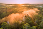 Sunrise through Early Morning Fog Overlooking Beaver Brook, Royalston, MA