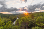 Sunset over Millers River Winding through Bearsden Forest, Athol, MA