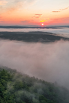View from Tully Mountain with Ground Fog at Sunrise, Orange, MA