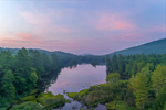 Sunrise at Sheomet Lake (aka Sheomet Pond or Clubhouse Pond), Warwick State Forest, Warwick, MA