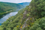 Rock Cliffs along James River, Jefferson National Forest and Blue Ridge Mountains, Bedford County, near Glasgow, VA