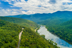 James River Flowing through George Washington and Jefferson National Forests, Blue Ridge Mountains, Bedford and Amherst Counties, VA