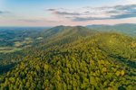 Early Morning Light Shines on George Washington National Forest and Blue Ridge Mountains, Amherst and Bedford Counties, VA