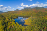 Holcomb Pond in Early Autumn with Sentinel Range in Distance, Adirondack Park, View from North Elba, NY