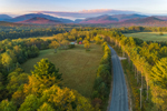 Farm along Country Road with Mountains in High Peaks Wilderness in Distance, Adirondack Park, North Elba, NY