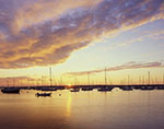 Boats at Sunset in Red Brook Harbor, Buzzards Bay, Cape Cod, Cataumet