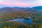 Sunrise over Holcomb Pond in Early Autumn with Sentinel Range in Distance, Adirondack Park, View from North Elba, NY