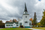 Keene Valley Congregational Church in Fall, Adirondacks Region, Keene Valley, NY