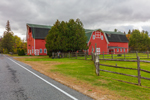Big Red Barn at Woodlea Farms, Adirondack Park, near Lake Placid, NY