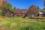 Old, Weathered, Wooden Barns in Autumn, Olympic Trail Scenic Byway, Adirondack Park, Wilmington, NY