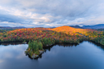 Evening Light Shines on Mountains at Moose Pond, McKenzie Mountain Wilderness in Distance, Adirondack Park, St. Armand, NY
