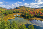 Newport Brook and Newport Pond in Autumn, Adirondack Park, Hamlet of Witherbee, Town of Moriah, NY