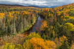 West Branch Ausable River in Autumn, Adirondack Park, near Lake Placid, Town of North Elba, NY