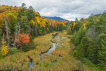 Tributary of West Branch Ausable River in Autumn, Adirondack Park near Lake Placid, Town of North Elba, NY