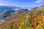Whiteface Mountain in Autumn with Sentinel Range in Distance, Adirondack Park, Wilmington, NY