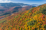 View from Lookout Mountain in Autumn with Sentinel Range in Distance, Adirondack Park, Wilmington, NY