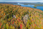 View from Panther Mountain of Upper Saranac Lake in Autumn, Adirondack Park, Harrietstown, NY