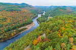 Hudson River in Autumn, Adirondack Park, Johnsburg and Chester, View from Warrensburg, NY