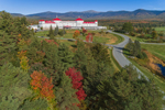 Mount Washington Hotel and Resort with Mount Washington and Presidential Range in Distance, White Mountains Region, Bretton Woods, Carroll, NH