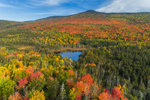 Small Pond and Deception Mountain in Autumn, White Mountain National Forest, Carroll, NH