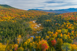 Deception Brook in Autumn with Presidential Range in Distance, White Mountain National Forest, Carroll, NH