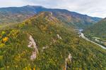 Eagle Cliff and Mount Lafayette, Franconia Range, Franconia Notch State Park, White Mountains Region, Franconia, NH