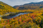 Beaver Pond with Mount Jim and Mount Moosilauke in Autumn, White Mountains Region, Woodstock, NH
