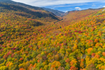 Brilliant Fall Foliage along Blue Ridge, White Mountain National Forest, View from Woodstock, NH