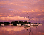 Sunset over Sailboats in Pine Island Bay after Summer Storm