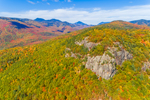 View from Hart Ledge in Autumn, Crawford Notch and Presidential Range in Distance, White Mountain National Forest, Bartlett, NH