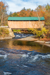 Jaynes Covered Bridge (Built 1877) Spanning North Branch Lamoille River, Green Mountains Region, Waterville, VT