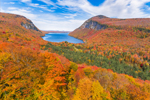 Lake Willoughby Between Mount Hor and Mount Pisgah in Fall, Northeast Kingdom Region, Westmore and Sutton, VT