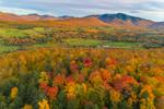 Rural Farmland in Fall with Mount Mansfield and Green Mountains in Distance, Green Mountains Region, Cambridge, VT