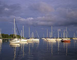 Dark Sky and Evening Light on Sailboats after Summer Storm, Pine Island Bay