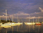 Dark Sky and Evening Light on Sailboats after Summer Storm