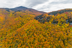 Colorful Fall Foliage on Camels Hump, Green Mountains, View from Bolton, VT