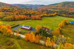Rural Farmland in Foothills of Green Mountains, View from Richmond, VT