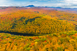 Fall Foliage at Gillett Pond and Mayo Mountain in Foreground with Camels Hump in Distance, View from Richmond, VT