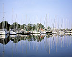 Boats at Dock, East Hampton Point Marina, Three Mile Harbor, Gardiners Bay, Long Island