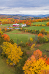 Fields and Pastures at Bogie Mountain Dairy Farm in Fall, Northeast Kingdom, West Barnet, Barnet, VT