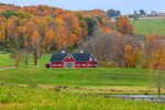Red Barn and Farmland in Fall, Taconic Mountains Region, Pine Plains, NY