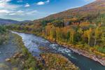 Esopus Creek (River) in Fall, Hamlet of Mount Tremper, Catskill Mountains, Catskill Park, Shandaken, NY
