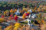 New Salem Common Historic District in Fall, New Salem, MA