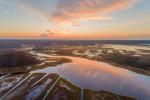 Sunrise over Salt Marshes at Barn Island Wildlife Management Area, off Little Narragansett Bay, Stonington, CT