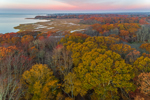 Sunrise over Salt Marshes and Forests at Barn Island Wildlife Management Area, off Little Narragansett Bay, Stonington, CT