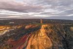 Gay Head Lighthouse and Gay Head Cliffs in Early Evening Light, Martha's Vineyard, Aquinnah, MA