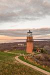 Sunset at Gay Head Lighthouse, Martha's Vineyard, Aquinnah, MA
