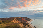 Sunset at Gay Head Lighthouse and Gay Head Cliffs, Martha's Vineyard, Aquinnah, MA