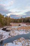 Sunrise over Lawrence Brook in Winter, Royalston, MA